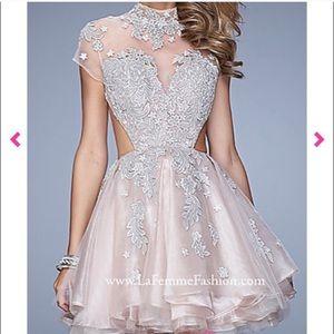 La Femme short prom dress